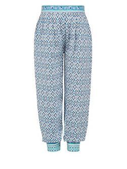 Girls Kasuri Printed Trouser