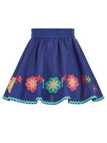 Monsoon Girls Matilda Flower Skirt