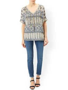 Monsoon Leticia Print Top