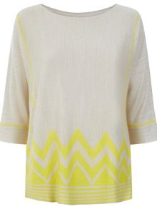 Monsoon Leyla Zig Zag Top