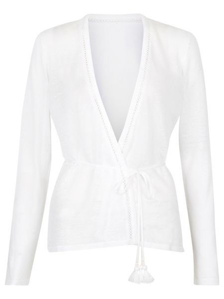 Monsoon Lea Tie Waist Cardigan