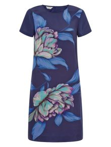 Monsoon Rhona Print Silk Dress