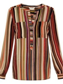 Monsoon Arizona Stripe Silk Blouse