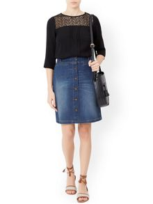 Monsoon Katy Denim Skirt