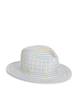 Diamond geo trilby hat