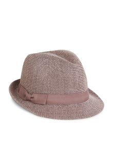 Accessorize Knitted paper packable trilby hat