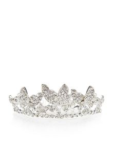 Monsoon Girls Diamante Butterfly Tiara Comb