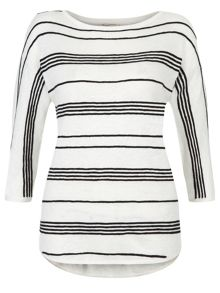 Monsoon Estelle Linen Stripe Jumper