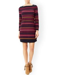 Monsoon Luna Multi Stripe Dress