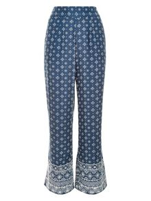 Monsoon Tia Printed Palazzo Trousers