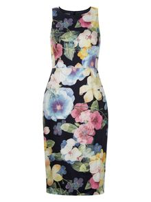 Monsoon Camilla Print Pencil Dress