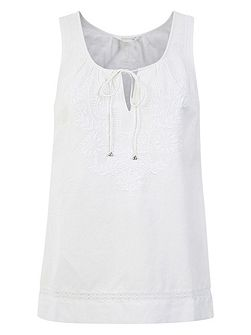 Sydney Sleeveless Embroidered Top