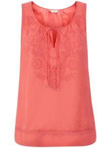 Monsoon Sydney Sleeveless Embroidered Top