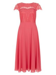 Monsoon Mimosa Lace Midi Dress