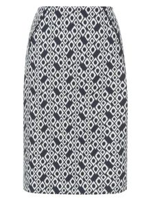 Monsoon Jolita Ikat Print Skirt