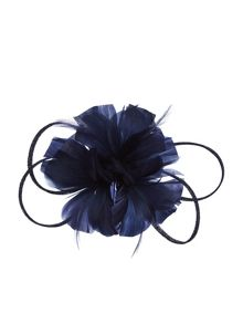 Accessorize Athena feather & flower fascinator clip
