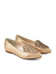 Monsoon Girls Glitter Almond Toe Slipper Shoe