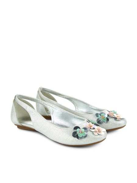 Monsoon Girls Sequin Flower Ballerina Shoe