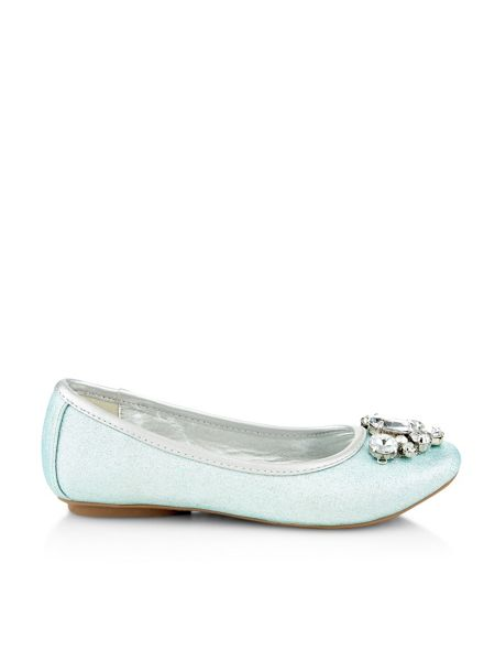 Monsoon Girls Jewel Shimmer Ballerina Shoe