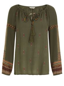 Monsoon Theodora Embellished Top