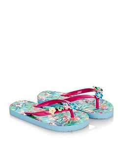 Girls Tropical Flower Flip Flop