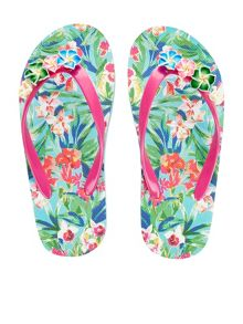Monsoon Girls Tropical Flower Flip Flop