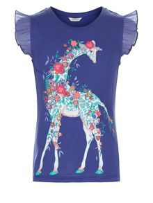 Monsoon Girls Gilly Giraffe T-Shirt