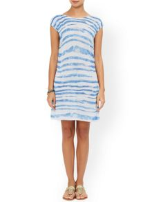 Monsoon Jade Printed Stripe Dress