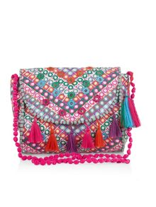 Monsoon Girls Mirror Mosaic Tassle Bag