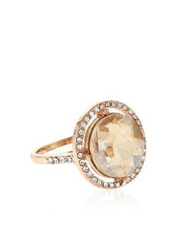 Pave round cocktail ring