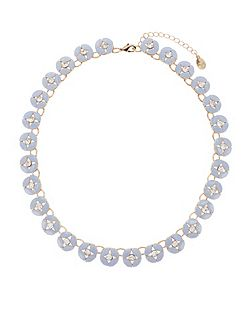 Charlotte flower collar necklace