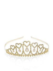 Monsoon Girls Heart And Pearl Teardrop Tiara