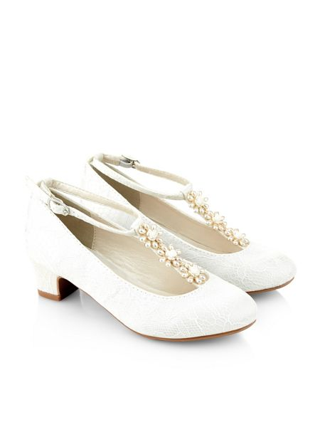 Monsoon Girls Pearl TBar Cha Cha Shoe