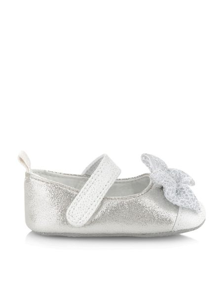 Monsoon Baby Girl Lace Bow Toe Cape Bootie