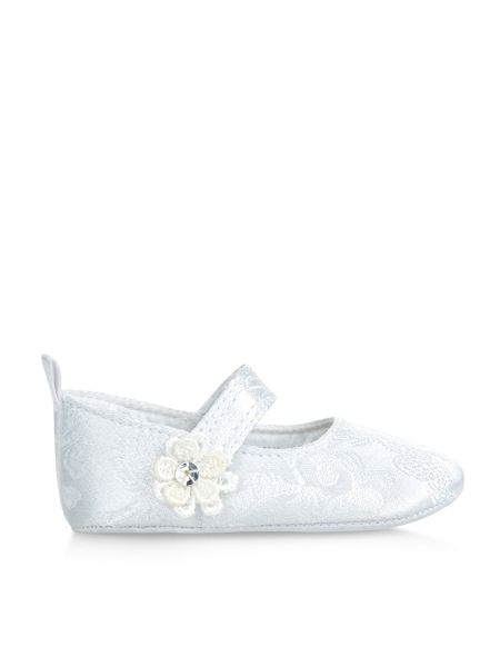 Monsoon Baby Girl Jacquard Lace Flower Bootie