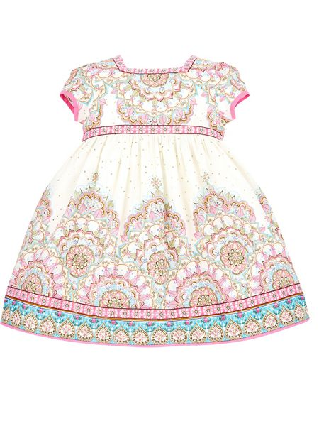 Monsoon Baby Girl Deepansha Border Print Dress