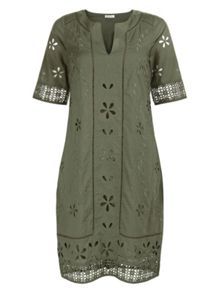 Monsoon Freja Cutwork Dress