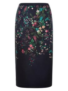 Monsoon Flora Print Placement Skirt