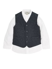 Monsoon Boys Hector Waistcoat and Shirt Set