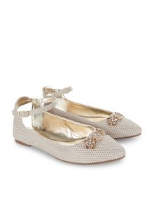 Monsoon Girls Storm Sling Back Almond Toe Shoe