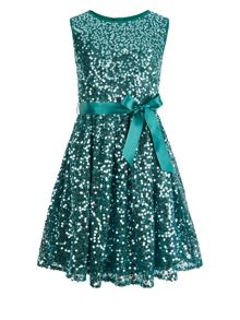 Monsoon Girls Ottalia Sequin Dress