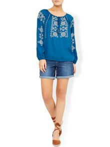 Monsoon Rayney Embroidered Top