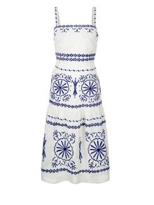 Monsoon Carmen Embroidered Dress