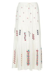 Monsoon Isabella Embroidered Skirt