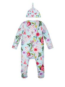 Monsoon Baby Girl Newborn Sleepsuit and Hat