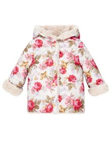 Monsoon Baby Girl Newborn Sophia Reversible Coat