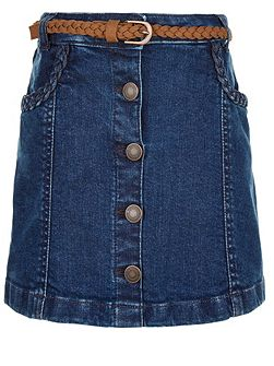 Girls Delilah Denim Skirt