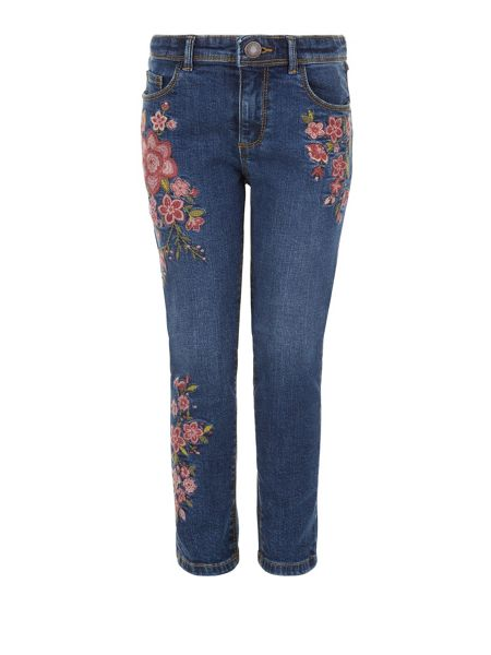 Monsoon Girls Flora Embroidered Jeans