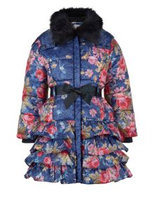 Monsoon Girls Sofia Rose Padded Coat