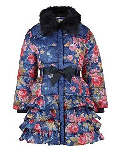 Girls Sofia Rose Padded Coat